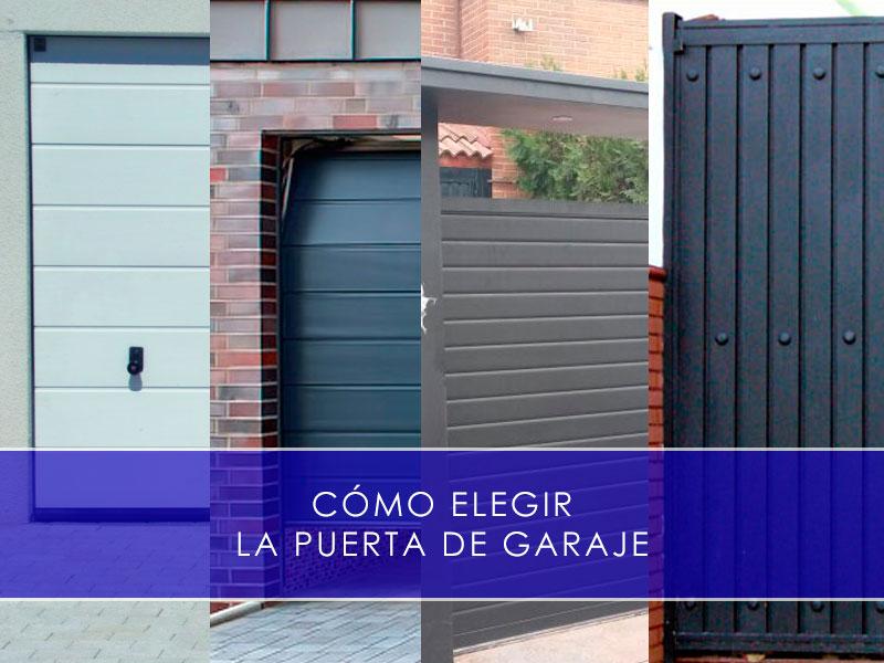 cómo elegir la puerta de garaje