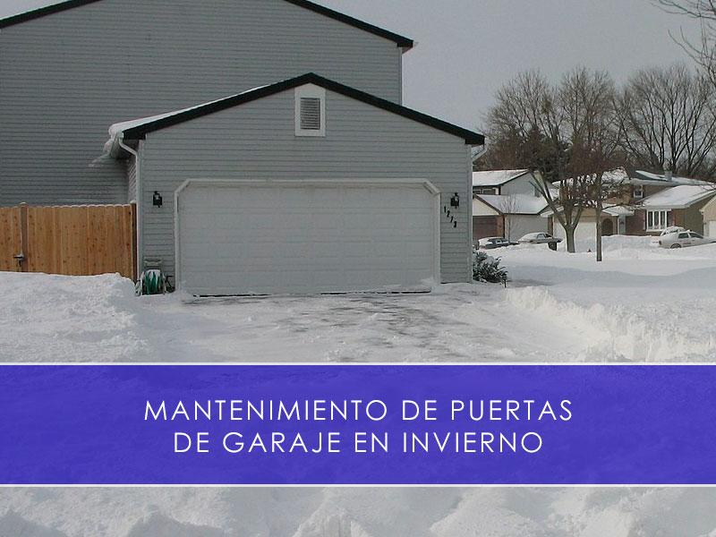 mantenimiento de puertas de garaje en invierno