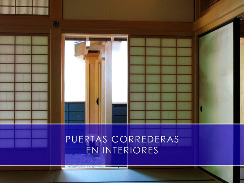 puertas correderas en interiores