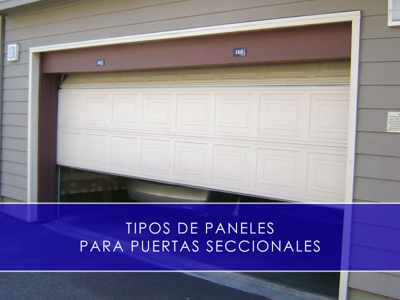 tipos de paneles para puertas seccionales