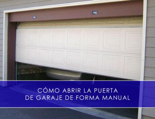 Abrir la puerta de garaje de forma manual