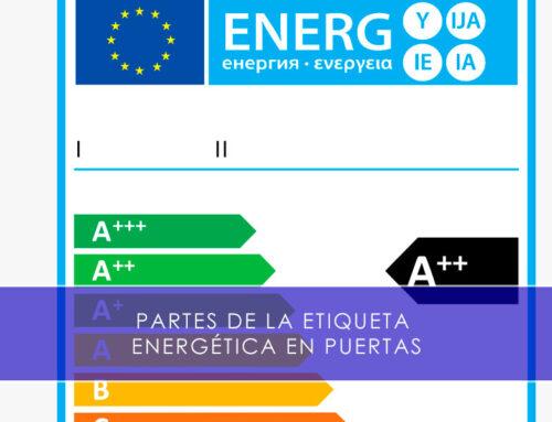 Partes de la etiqueta energética en puertas