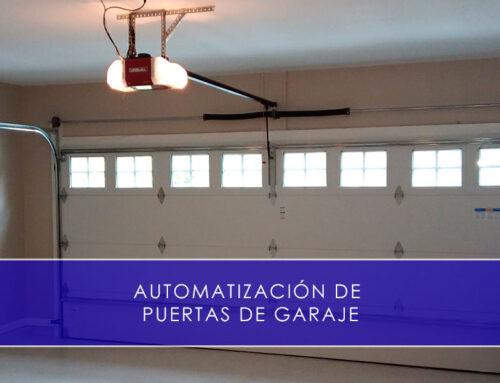 Automatización de puertas de garaje