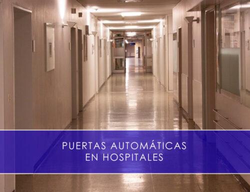 Puertas automáticas en hospitales