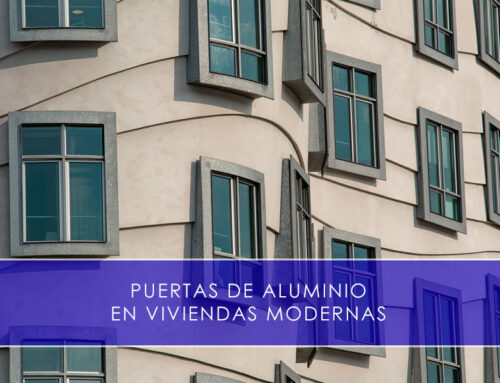 Puertas de aluminio en viviendas modernas