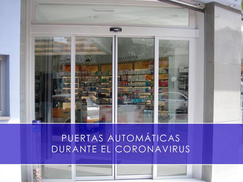 puertas automáticas durante el coronavirus