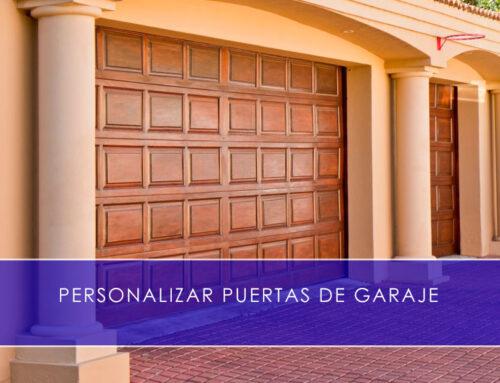 Personalizar puertas de garaje