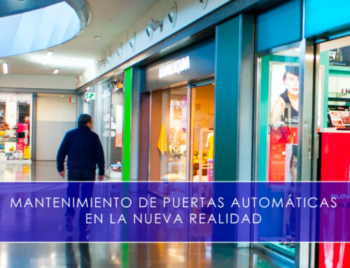 Mantenimiento de puertas automáticas en la nueva realidad