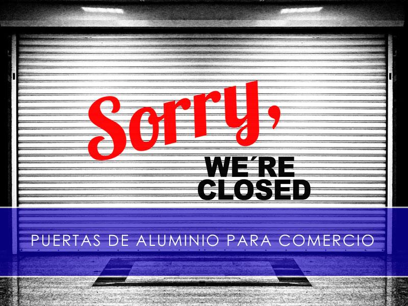 puertas de aluminio para comercio - Martín Vecino