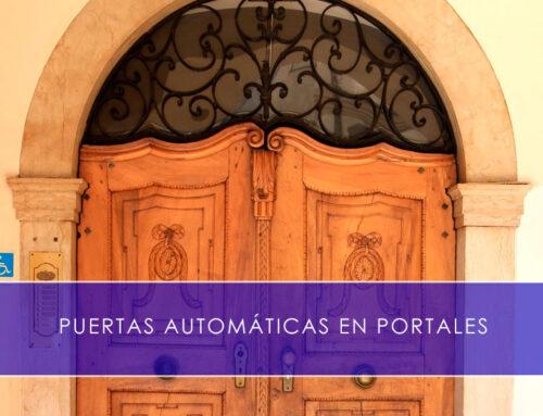 Puertas automáticas en portales