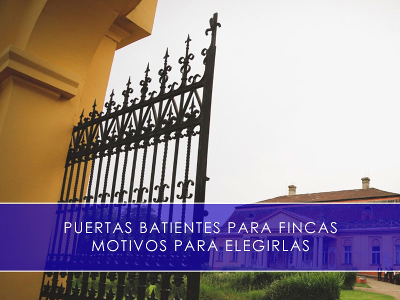 Puertas batientes para fincas - Martín Vecino