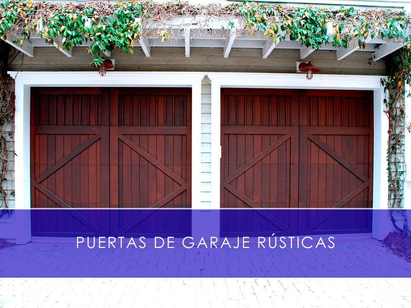 Puertas de garaje rústicas - Martín Vecino