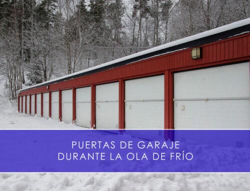 Puertas de garaje durante la ola de frío