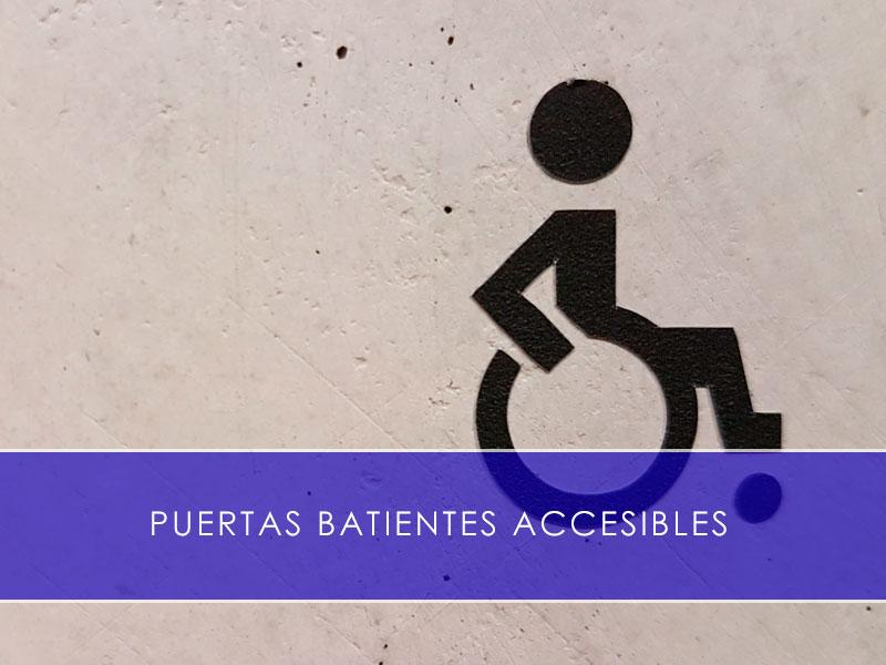Puertas batientes accesibles - Martín Vecino