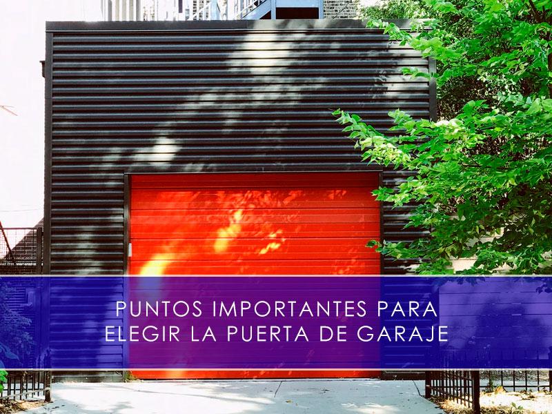 Puntos importantes para elegir la puerta de garaje - Martín Vecino