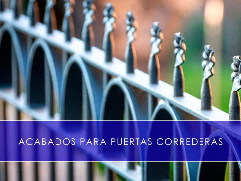 Acabados para puertas correderas - Martín Vecino